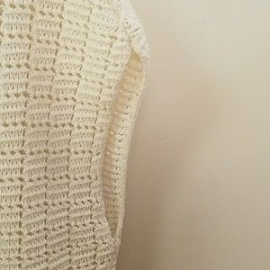 LOFT Sweaters - (Worn once) The LOFT Cream Sleeveless Sweater